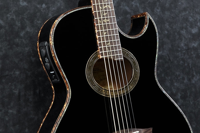 View larger image of Ibanez EP10 Steve Vai Acoustic Guitar - Black Pearl High Gloss
