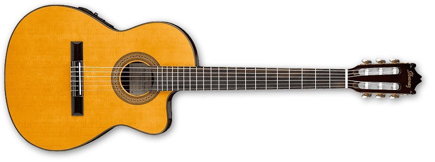 View larger image of Ibanez GA5TCE Classical Guitar - Amber High Gloss