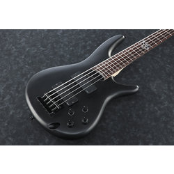 Ibanez K5 Bass Guitar - Black Flat