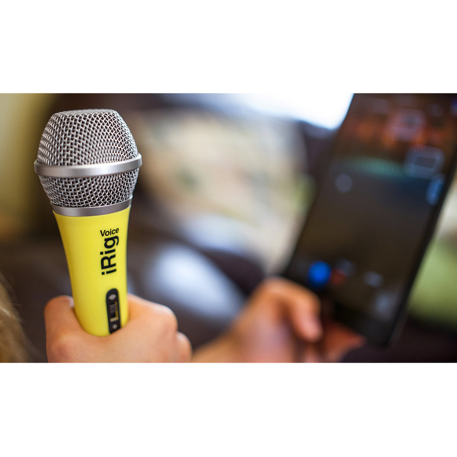 View larger image of IK Multimedia iRig Voice Handheld Microphone - Yellow
