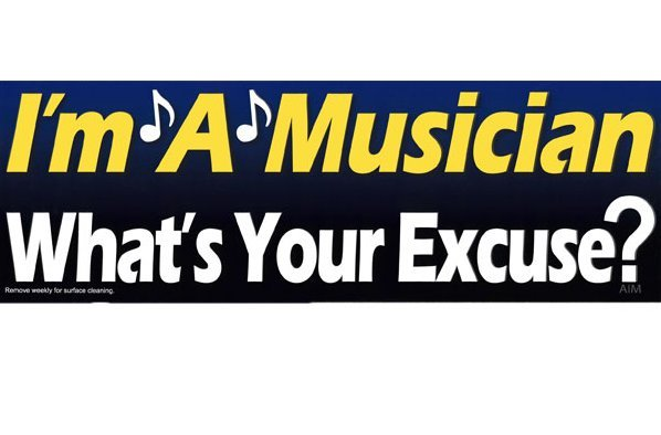 View larger image of I'm A Musician, What's your Excuse? Bumper Magnet