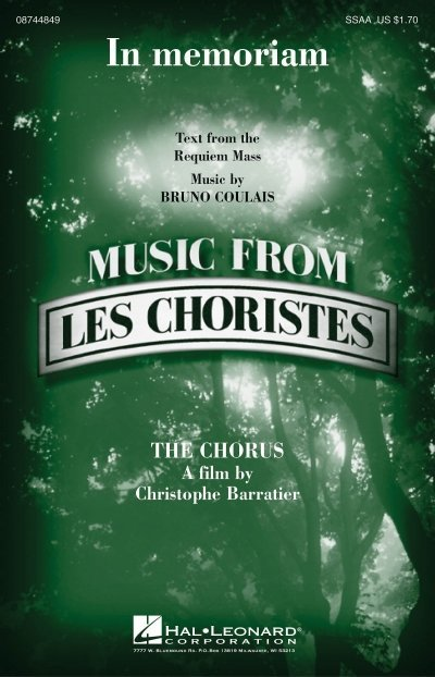View larger image of In Memoriam (Music from Les Choristes), SSAA Parts