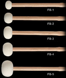 View larger image of Innovative Percussion FB-3 Field Series Marching Bass Drum Mallets - Large