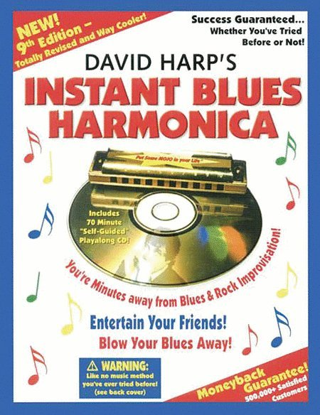 View larger image of Instant Blues Harmonica - Ninth Edition (David Harp) w/CD