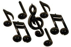 View larger image of Instrument Notes Wall Décor - 3D, Black, 7 Pack