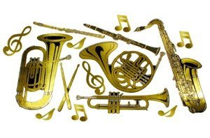 View larger image of Instrument Wall Décor - Gold, 15 Pack