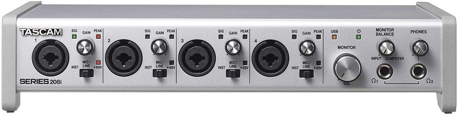 View larger image of Tascam Series 208i USB Audio/MIDI Interface with DSP Mixer
