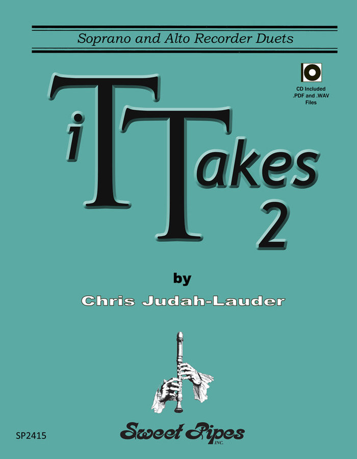 View larger image of It Takes 2 - Soprano and Alto Recorder Duets