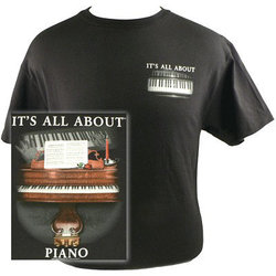 It's All About Piano T-Shirt - Large