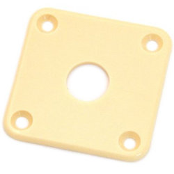 Jackplate for Gibson Les Paul - Plastic, Cream