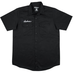 Jackson Logo Work Shirt - Black, Men's XL