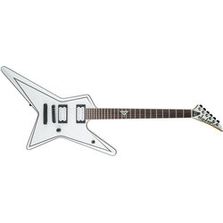 Jackson USA Signature Gus G. Star Electric Guitar - Rosewood, Satin White with Black Pinstripes