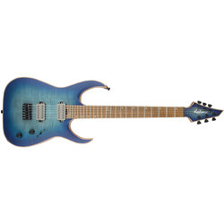 Jackson USA Signature Misha Mansoor Juggernaut HT6FM Electric Guitar - Caramelized Flame Maple, Satin Laguna Burst