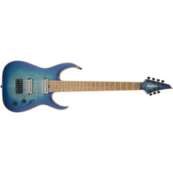 Jackson USA Signature Misha Mansoor Juggernaut HT7FM Electric Guitar - Caramelized Flame Maple, Satin Laguna Burst