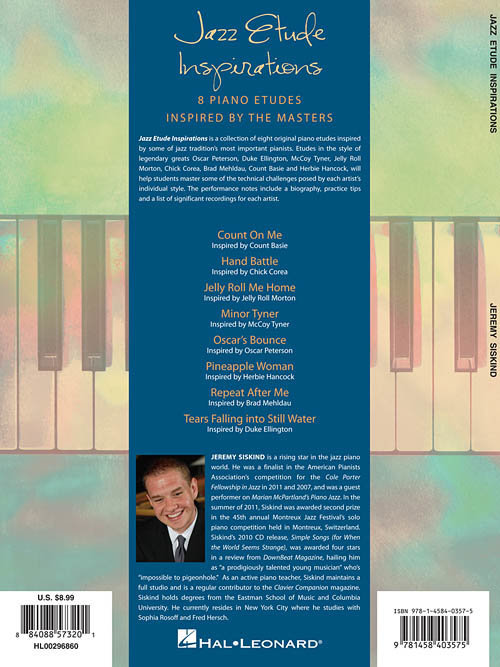 View larger image of Jazz Etude Inspirations: Eight Piano Etudes Inspired by the Masters