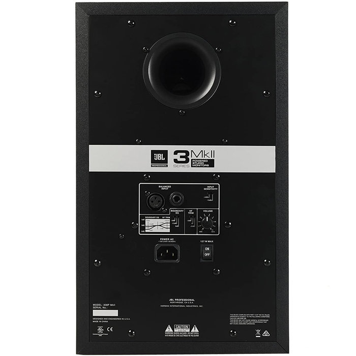 """View larger image of JBL 308P MkII Powered Two-Way Studio Monitor - 8"""", Single"""