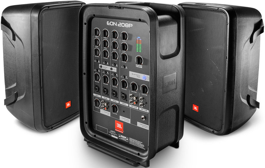 View larger image of JBL Pro EON208P 8 2-Way PA with Powered 8-Channel Mixer and Bluetooth