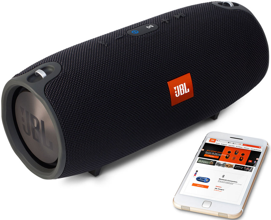 View larger image of JBL Xtreme Waterproof Portable Bluetooth Speaker - Black