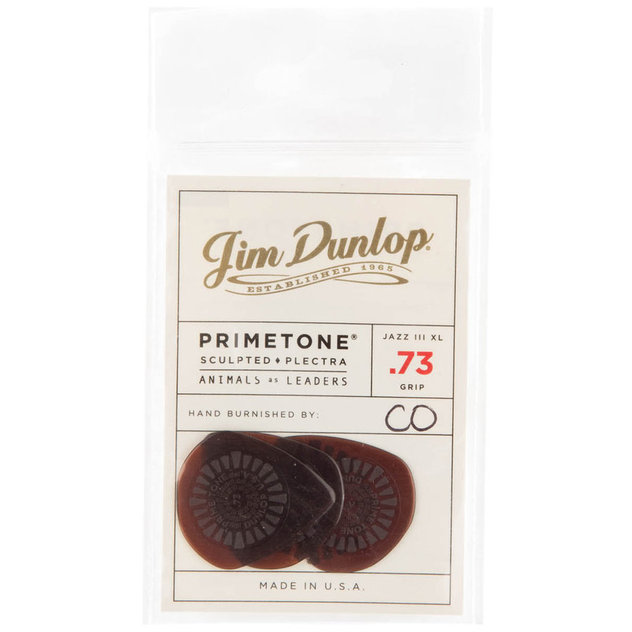 View larger image of Jim Dunlop Animals as Leaders Picks - .73 mm, Brown, 3 Pack