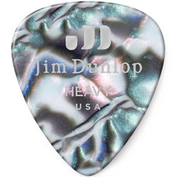 Jim Dunlop Celluloid Classic Picks - Heavy, Abalone, 12 Pack
