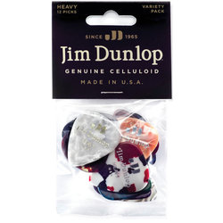 Jim Dunlop Celluloid Guitar Pick Variety Pack - Heavy, 12 Pack