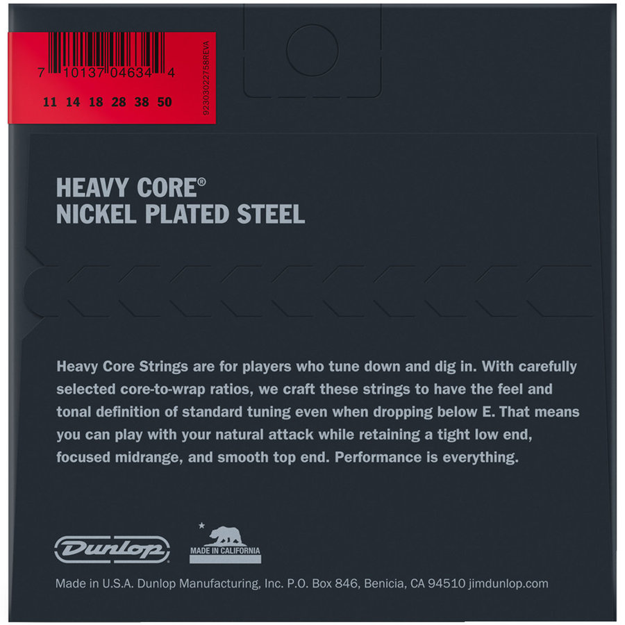 View larger image of Jim Dunlop Heavier Core Electric Guitar Strings - Nickel Wound, 11-50
