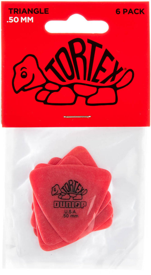 View larger image of Jim Dunlop Tortex Triangle Picks - .50 mm, 6 Pack