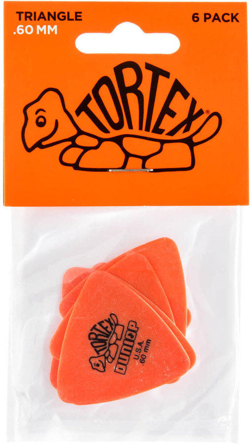 View larger image of Jim Dunlop Tortex Triangle Picks - .60 mm, 6 Pack