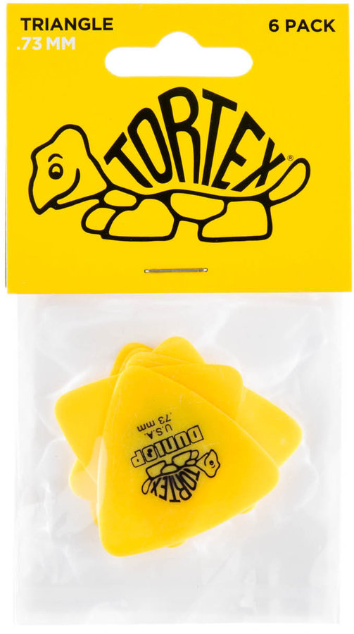 View larger image of Jim Dunlop Tortex Triangle Picks - .73 mm, 6 Pack