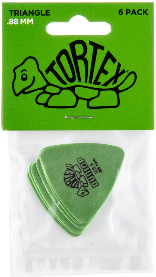 View larger image of Jim Dunlop Tortex Triangle Picks - .88 mm, 6 Pack