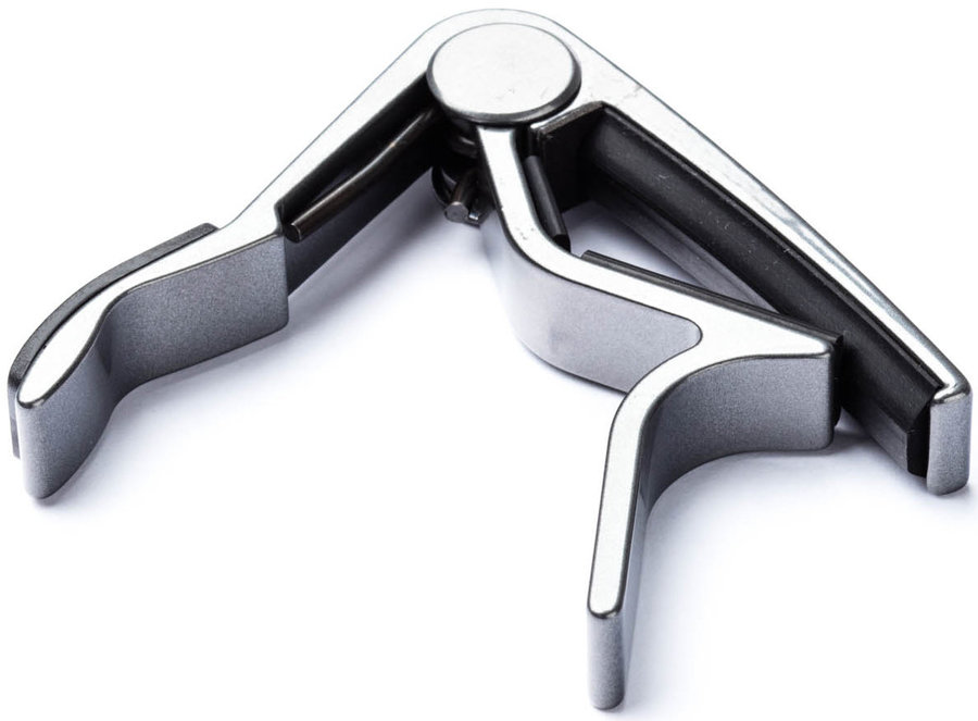 View larger image of Jim Dunlop Trigger Acoustic Guitar Capo - Curved, Smoked Chrome