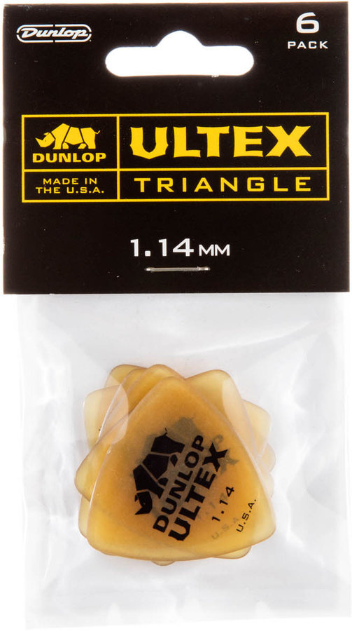 View larger image of Jim Dunlop Ultex Triangle Picks - 1.14 mm, 6 Pack