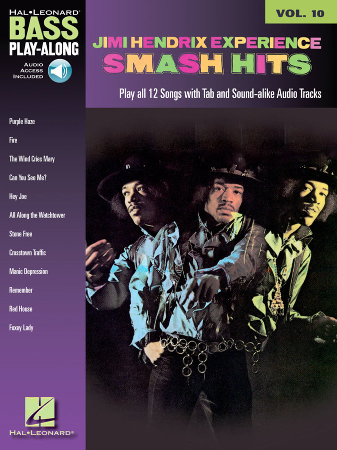 View larger image of Jimi Hendrix – Smash Hits - Bass Play-Along Volume 10 w/Online Audio