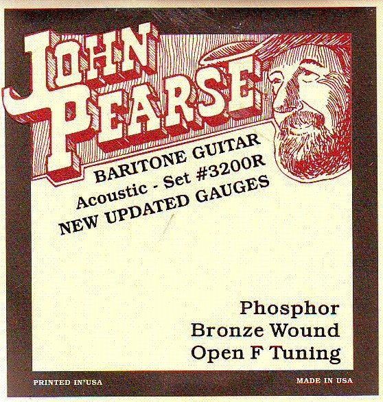View larger image of John Pearse - JP3200R Resophonic Baritone Strings - Open F