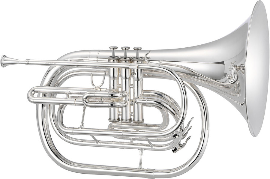 View larger image of Jupiter JHR1000MS 1000 Series Marching French Horn - Silver, with Case
