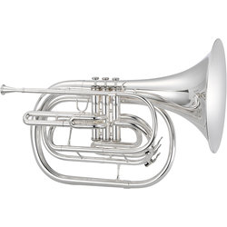 Jupiter JHR1000MS 1000 Series Marching French Horn - Silver, with Case