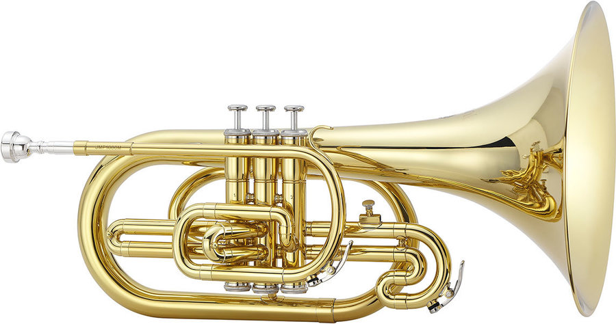 View larger image of Jupiter JMP1000M 1000 Series Marching Mellophone - Brass, with Case