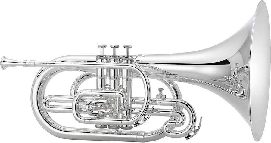 View larger image of Jupiter JMP1000MS 1000 Series Marching Mellophone - Silver, with Case