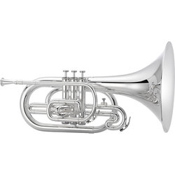 Jupiter JMP1000MS 1000 Series Marching Mellophone - Silver, with Case