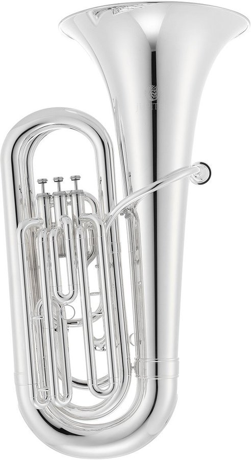 View larger image of Jupiter JTU1000MS 1000 Series Marching Tuba - Silver, Case with Wheels