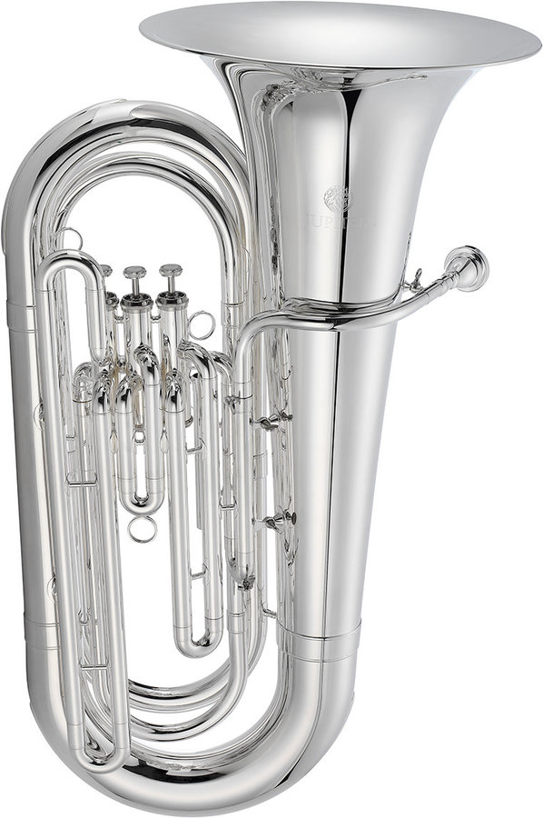 View larger image of Jupiter JTU1030MS 1000 Series Marching Tuba - Silver, Case with Wheels