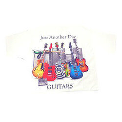 Just Another Day with Guitar T-Shirt - White, XL
