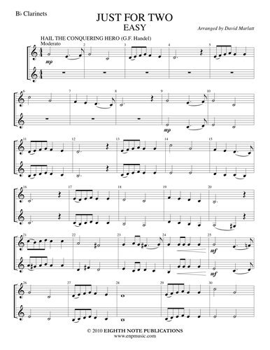 View larger image of Just for Two - Easy - (Clarinet Duet)