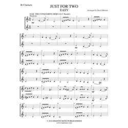 Just for Two - Easy - (Clarinet Duet)
