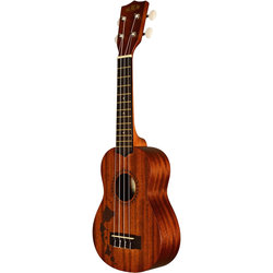 Kala Satin Mahogany Soprano Ukulele - Hawaiian Islands