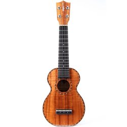 Kamaka HF-1D Koa Top Soprano Deluxe Ukulele with case