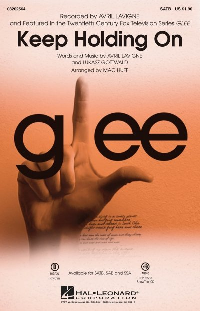 View larger image of Keep Holding On (from Glee/Avril Lavigne), SATB Parts