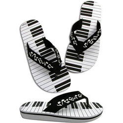 Keyboard Bottom Flip Flops - XL