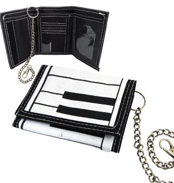 View larger image of Keyboard Canvas Wallet with Chain