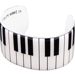 Keyboard Cuff Bracelet - White